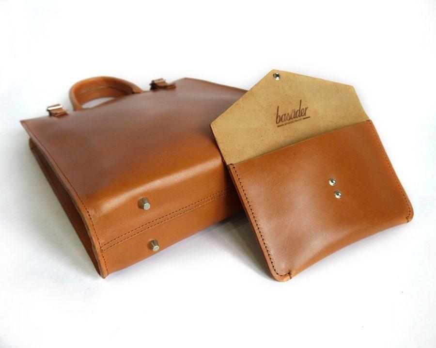 Handmade leather tote purse