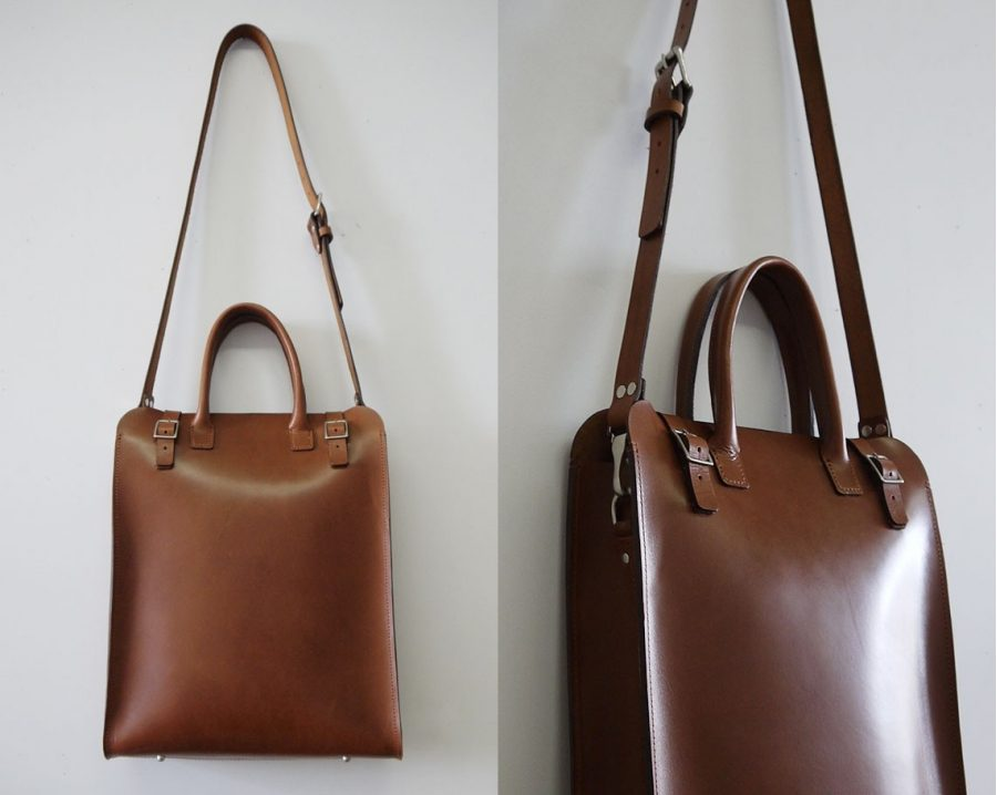 handmade leather tote strap