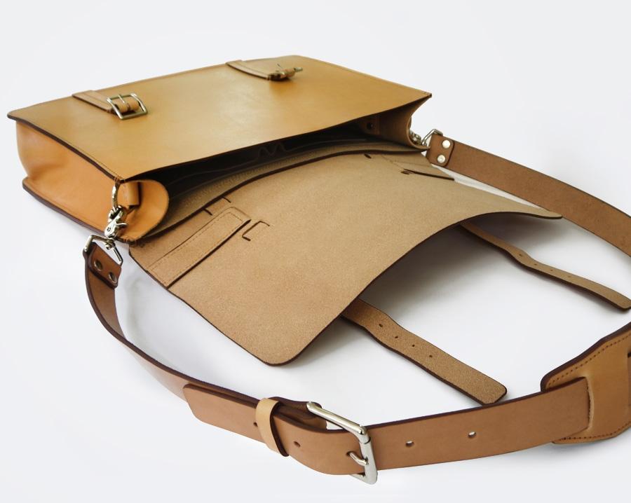 Handmade Essential Messenger Bag Single Large Gusset